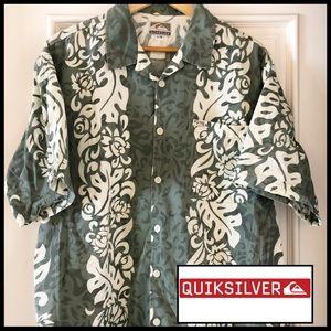 Quiksilver Classic Aloha Shirt. Men's Size L. ☀️